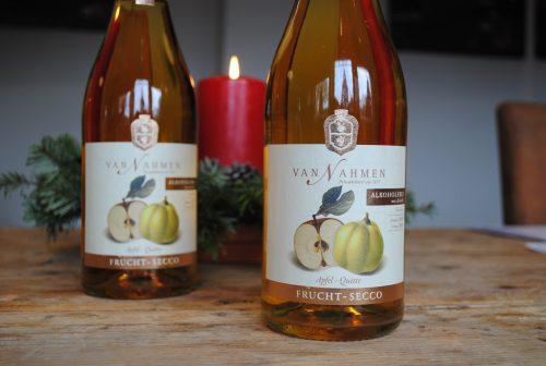 Van Nahmen Fruchtsecco Apfel-Quitte 0,75 l alkoholfrei